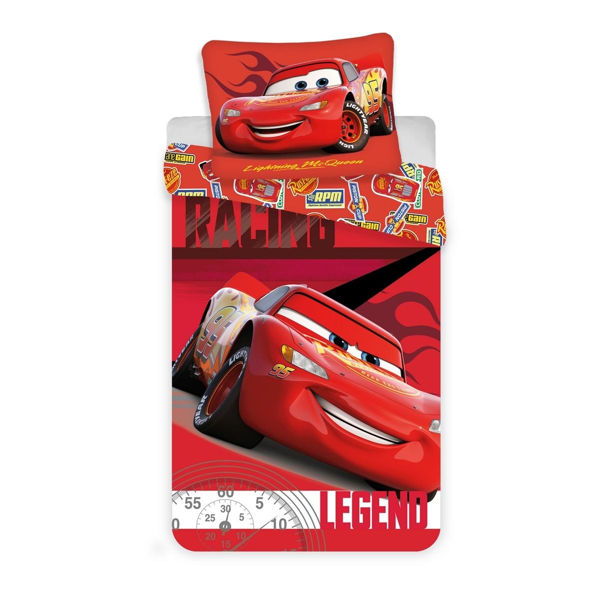Jerry Fabrics Dětské povlečení Cars Legend micro, 140 x 200 cm, 70 x 90 cm