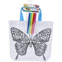 Dětská taška na vybarvení Motýl, 28,5 x 29 cm