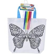 Sacoșă de colorat pentru copii Fluture, 28,5 x 29cm