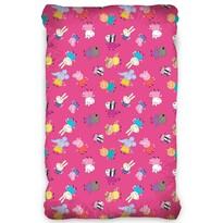 Lenjerie de pat din bumbac, Purceluș Peppa Pink,pentru copii, 90 x 200 cm