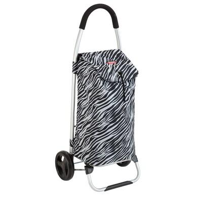Nákupní taška na kolečkách Praga zebra