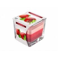 Lumânare în sticlă Curcubeu Căpșună, 170 g