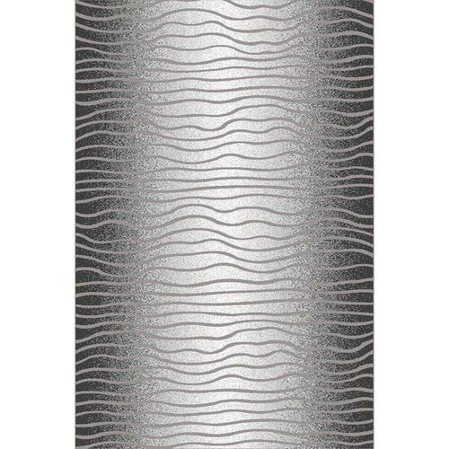 Habitat Kusový koberec Luna waves černá, 80 x 150 cm