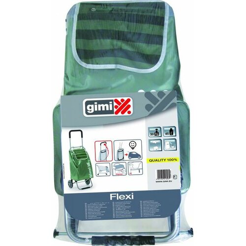 Produktové foto Gimi Nákupní taška na kolečkách Flexi zelená, 45 l