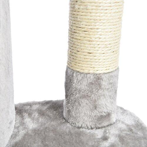 Mourek sarok kaparófa macskáknak, 49 x 49 x 130 cm