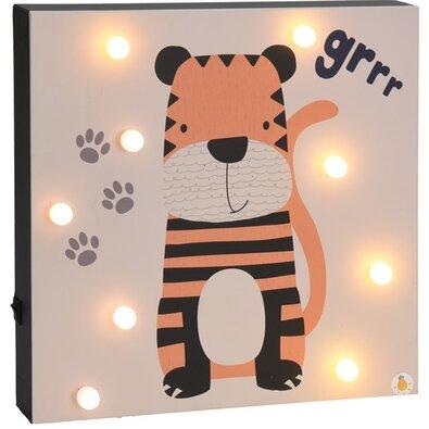 Nástenná LED dekorácia Hatu Tiger, 26 x 4 x 26 cm