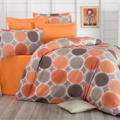 Pościel bawełniana Delux Targets pomarańczowy, 140 x 200 cm, 70 x 90 cm