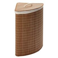 Coș pentru rufe pe colț, din bambus