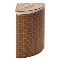 Narożny bambusowy kosz na pranie