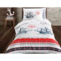 Nautical pamut ágynemű, 140 x 200 cm, 70 x 90 cm + 50 x 70 cm
