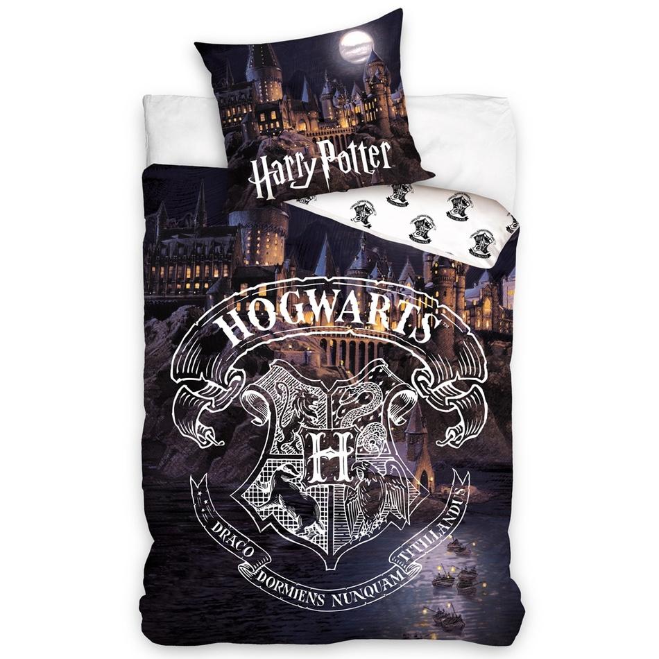 TipTrade Bavlnené obliečky Harry Potter Bradavice 140 x 200 cm 70 x 90 cm