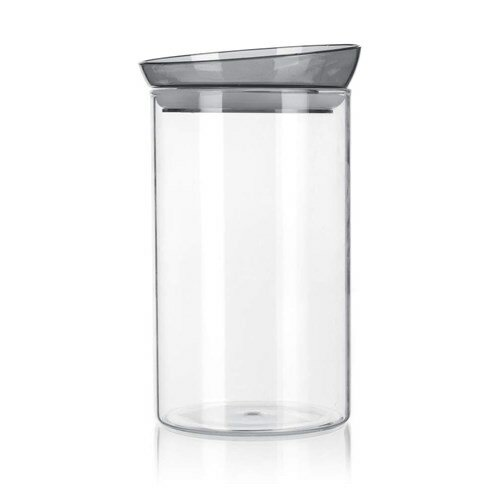 Banquet Dóza sklenená MABEL 1,85 l, sivá
