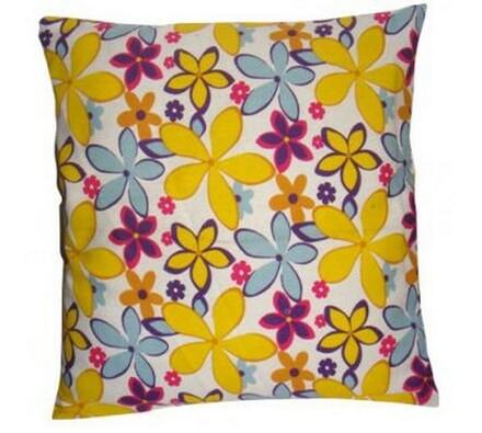 Dekorativní polštář barevné květiny, 45 x 45 cm, vícebarevná, 45 x 45 cm