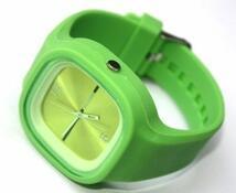 Silikonové hodinky analogové, žlutá