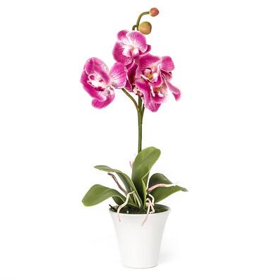 Umělá orchidea v květináči růžová