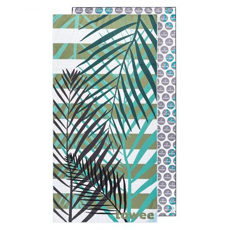 Towee Rýchloschnúca osuška PALMS GREEN, 70 x 140 cm
