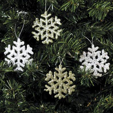 Vánoční dekorace vločka, sada 3 ks
