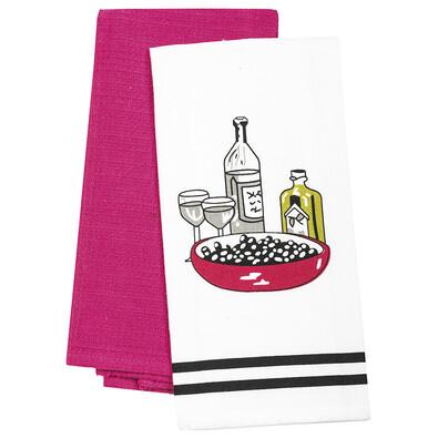 Kuchyňská utěrka Víno, 40 x 60 cm, sada 2 ks