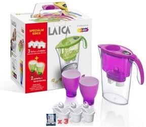 LAICA STREAM LINE filtrační konvice fialová + 2 sklenice + 3x filtr Bi-flux ZDARMA