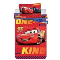 Lenjerie de pătuț copii Cars babydin flanelă, 100 x 135 cm, 40 x 60 cm