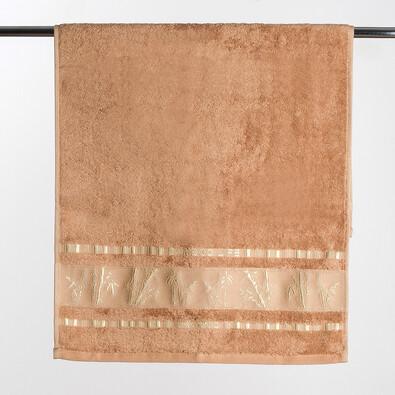 Osuška Bamboo life, 70 x 140 cm, hnědá
