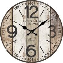 Drewniany zegar ścienny Old boards, śr. 34 cm