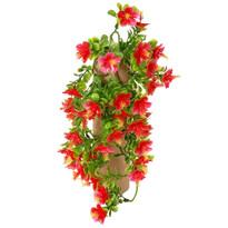 Sztuczny kwiat Hibiskus czerwony, 40 cm