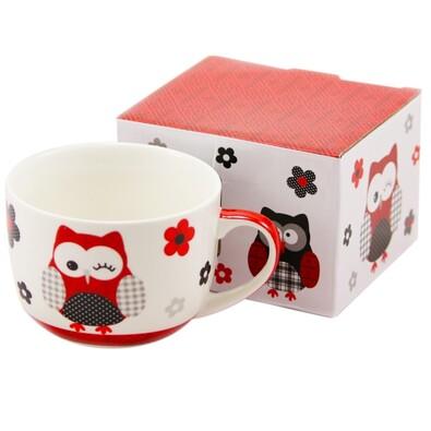 Hrnek Červená sova v dárkové krabičce 500 ml