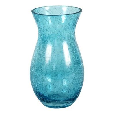 Váza skleněná modrá 10 x 18 cm