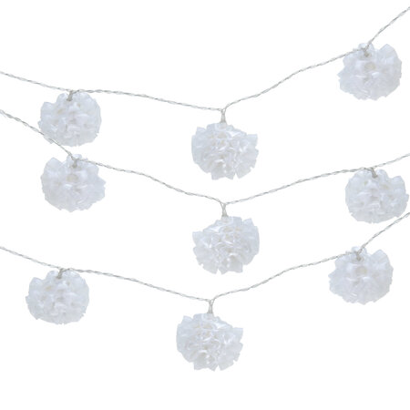 Světelný LED řetěz bílé květy