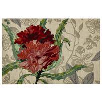 Rózsa alátét, piros, 32 x 48 cm