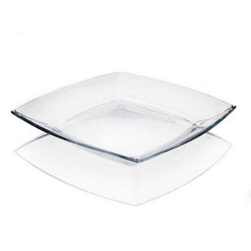 Sada plytkých sklenených tanierov Tokio, 6 ks