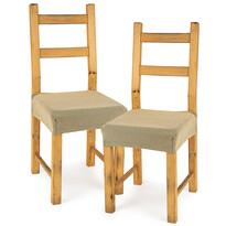 4home Multielastický poťah na sedák na stoličku Comfort béžová, 40 - 50 cm, sada 2 ks