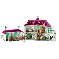 Schleich Veľký dom so stajňou a príslušenstvom, 96 cm