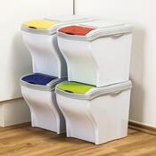 Odpadkové koše na tříděný odpad 4 x 20 litrů