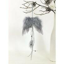 Sada vánočních ozdob Andělská křídla šedá, 6 ks