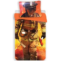 Tűzoltó pamut ágynemű, 140 x 200 cm, 70 x 90 cm