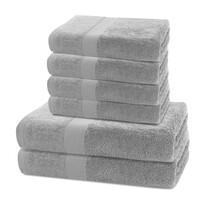 DecoKing Zestaw ręczników Marina szary, 4 szt. 50 x 100 cm, 2 szt. 70 x 140 cm