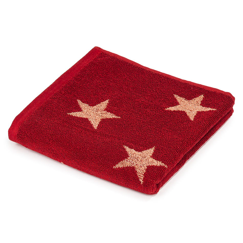 Produktové foto JAHU Ručník Stars červená, 50 x 100 cm