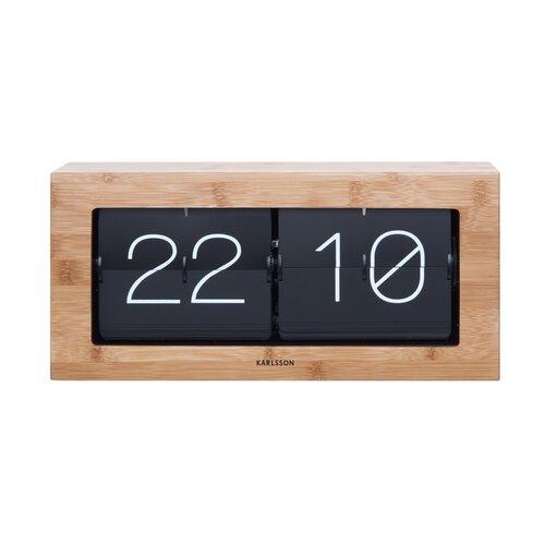 Karlsson 5642WD Designové stolní překlápěcí hodiny, 37 cm