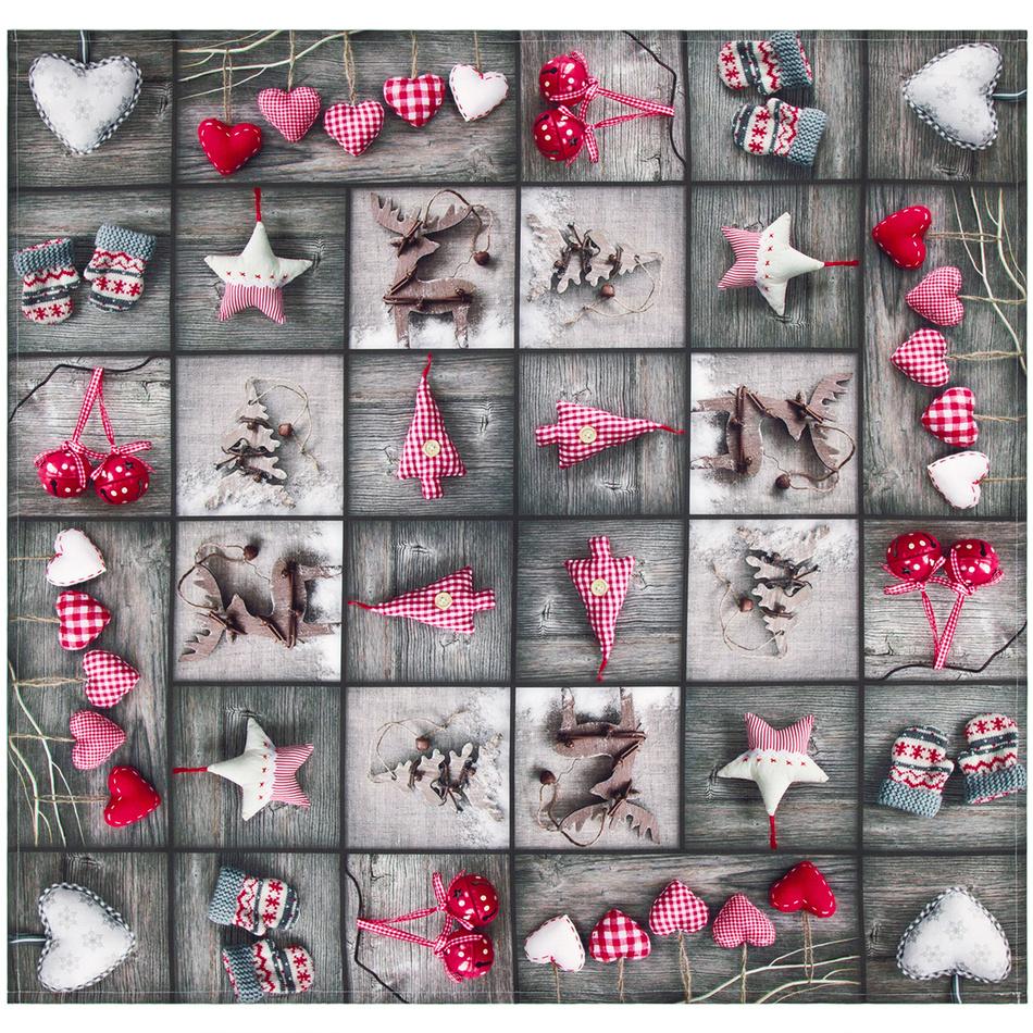 Forbyt Vánoční ubrus Ozdobičky patchwork