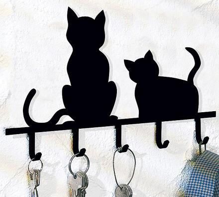 Držák na klíče kočky
