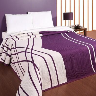 Přehoz na postel Casanova fialový, 240 x 260 cm, fialová