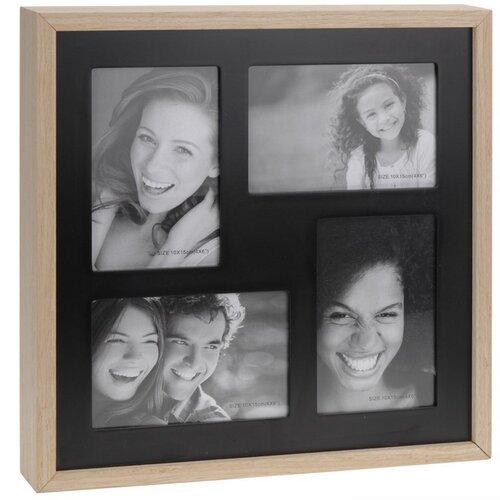 Fotorámeček Wood na 4 fotografie, černá + béžová