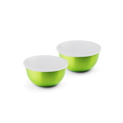 Sada nerezových misek do mikrovlnné trouby  MICROWONDER, zelená