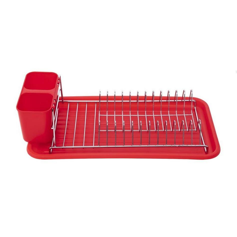 Florina Odkapávač na nádobí Stretto 44 x 24 x 12 cm, červená