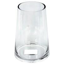 Sklenená váza Vologne číra, 23 cm
