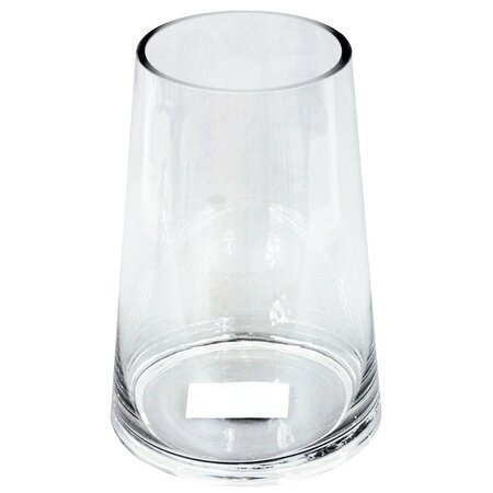 Vologne üvegváza, átlátszó, 23 cm