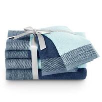 AmeliaHome Sada ručníků a osušek Aria světle modrá/tmavě modrá, 2 ks 30 x 50 cm