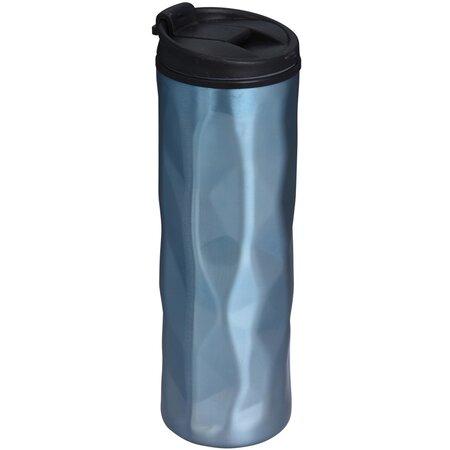 Cestovný hrnček s viečkom 400 ml, modrá